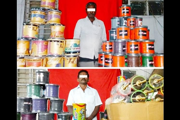 Hyderabad police seize Chinese manja worth Rs 10 lakh two held