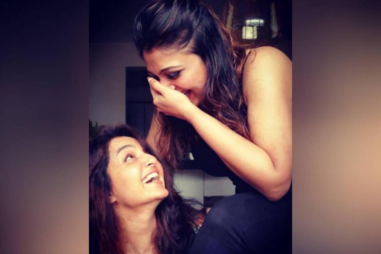 Manju Warrier and Geetu Mohandas