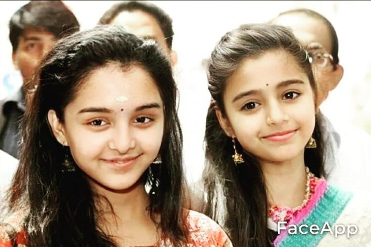 Manju Warrier and Samyuktha Varma looking like kids using the Faceapp application