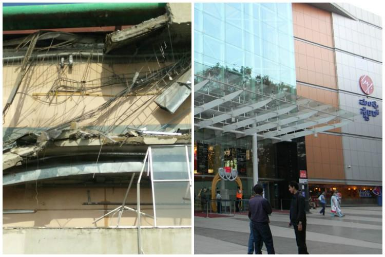 Four people had suffered injuries after Mantri Mall wall collapsed not two
