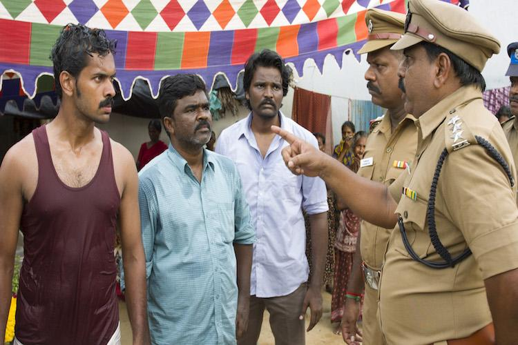 Manusangada is about a Dalit fighting for proper burial for his father Director Amshan