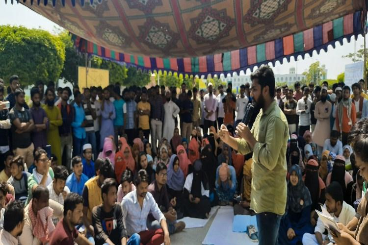 MANUU students boycott classes demand arrest of BJP leader Kapil Mishra
