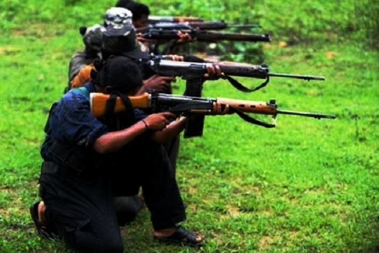 Maoists doing target practice