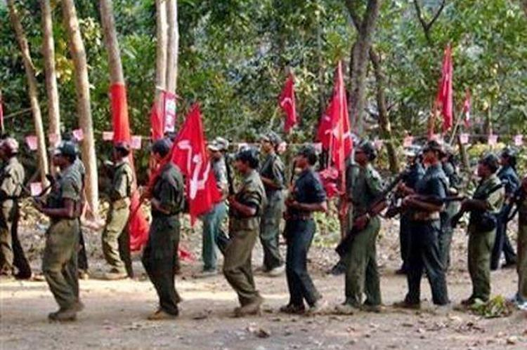 Maoism followers foundparading with red flags