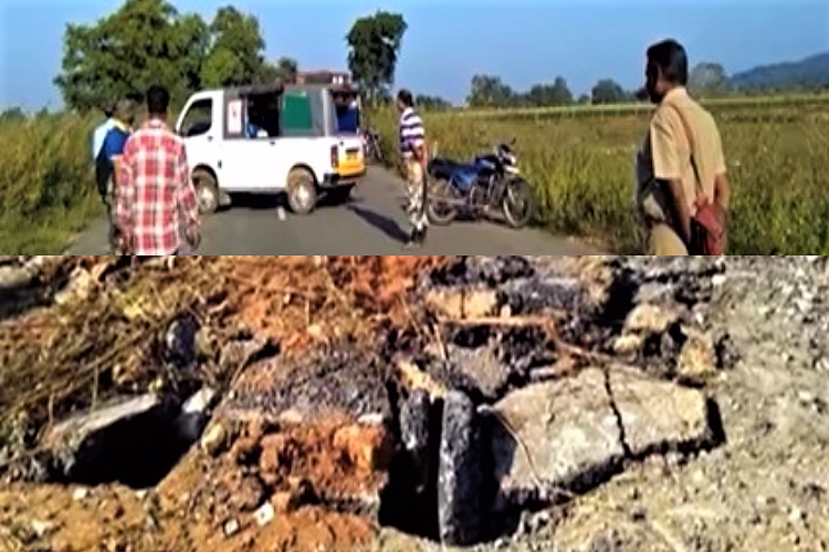 Two powerful landmines allegedly planted by Maoists found on Telangana highway defused