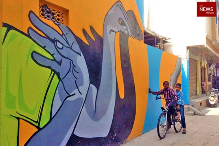 Red Gully Yellow Street and Pink Road Welcome to Hyderabads official art district