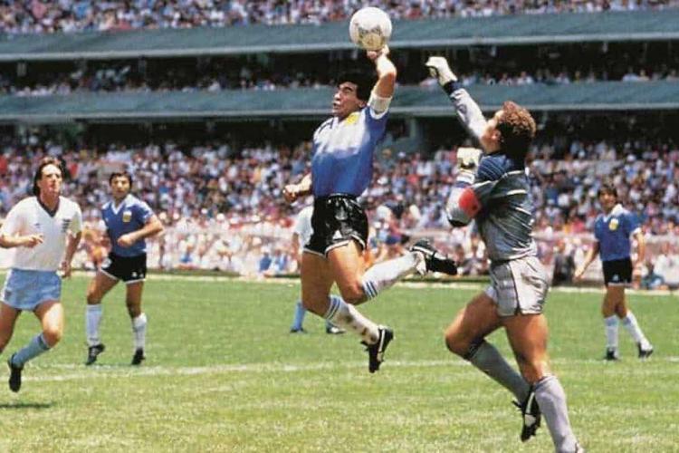 Maradonas Hand of God goal against England