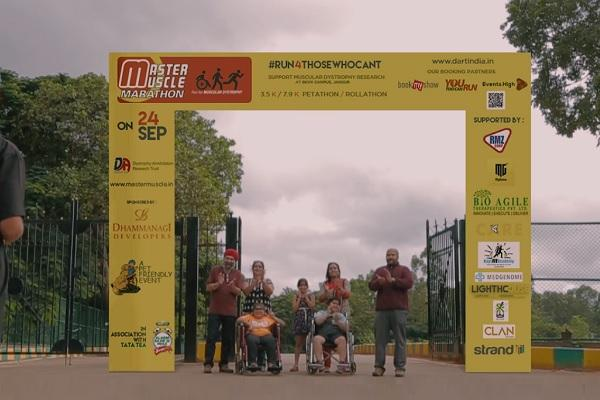 Run for those who cant Master Muscle Marathon for awareness on muscular dystrophy