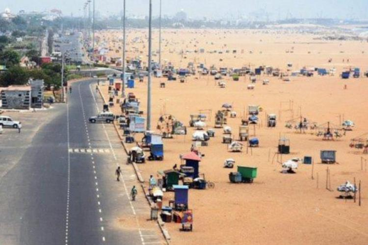 Marina beach in Chennai houses several stalls