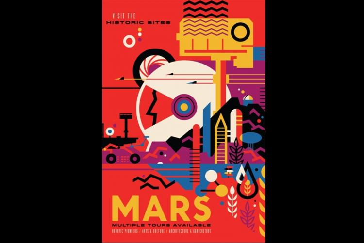 To promote interplanetary tourism NASA releases these awesome posters