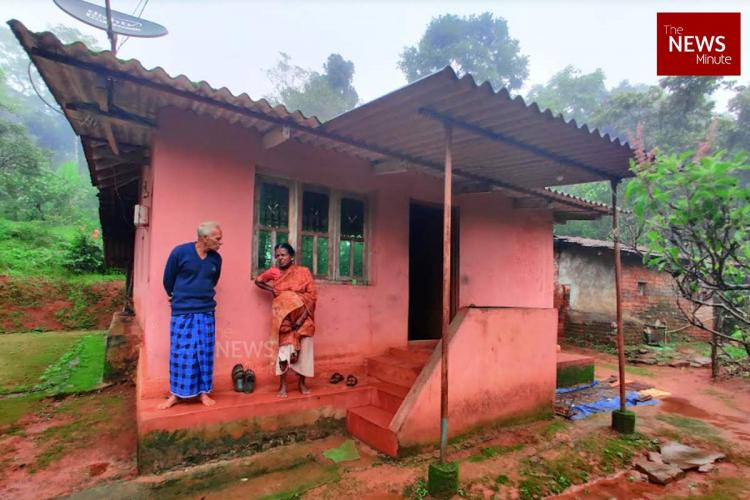 Parvati and her family in their house in masagali forest reserve