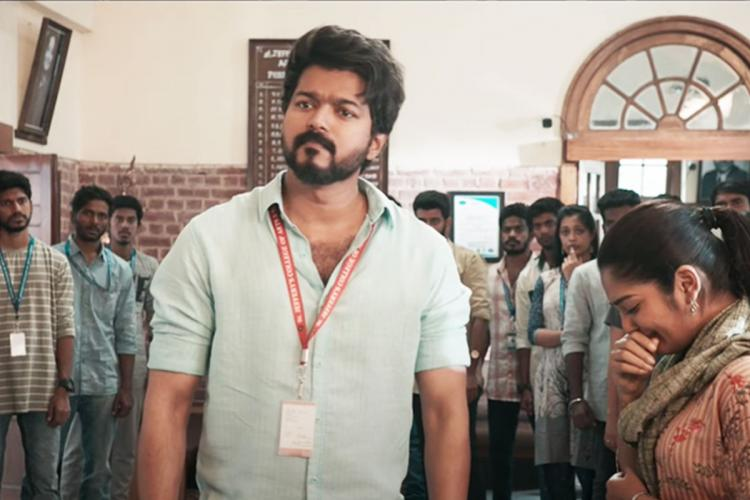 Vijay in Master deleted scene surrounded by students
