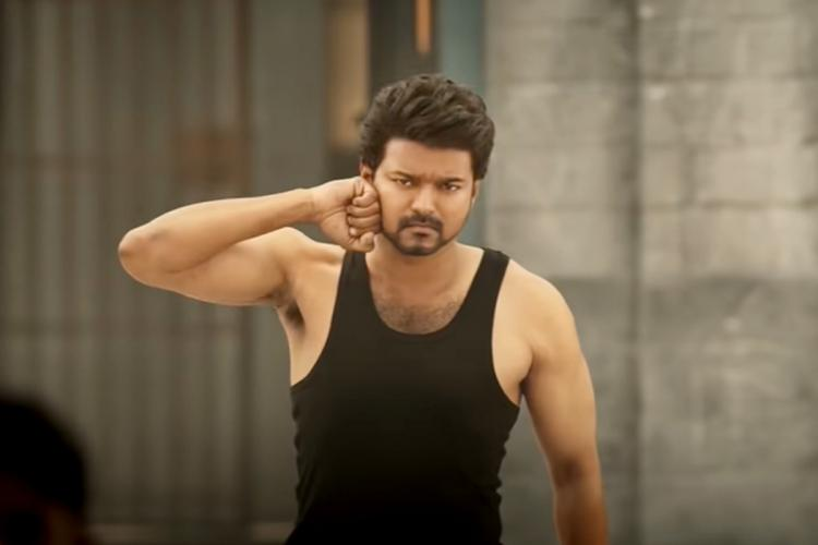 Vijay in Master as taken from Screengrab Vijay in black vest