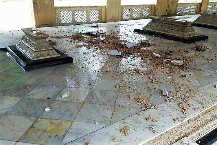 Come rains Mecca Masjid crumbles a bit more Does the govt care about heritage