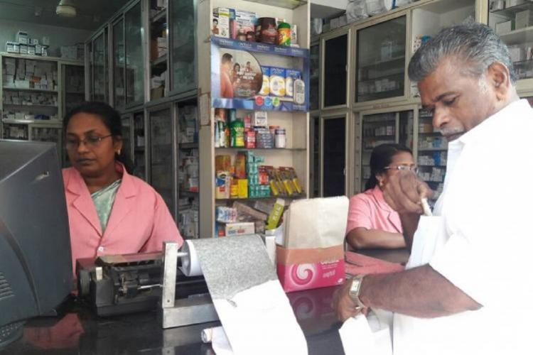 A medical store in Chennai
