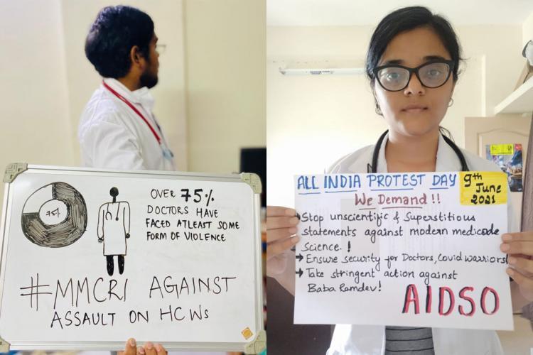 Medicos protest