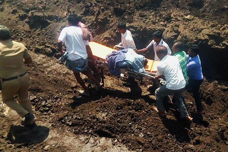 Hours after their dreams of finding water come true two Karnataka farmers die in borewell