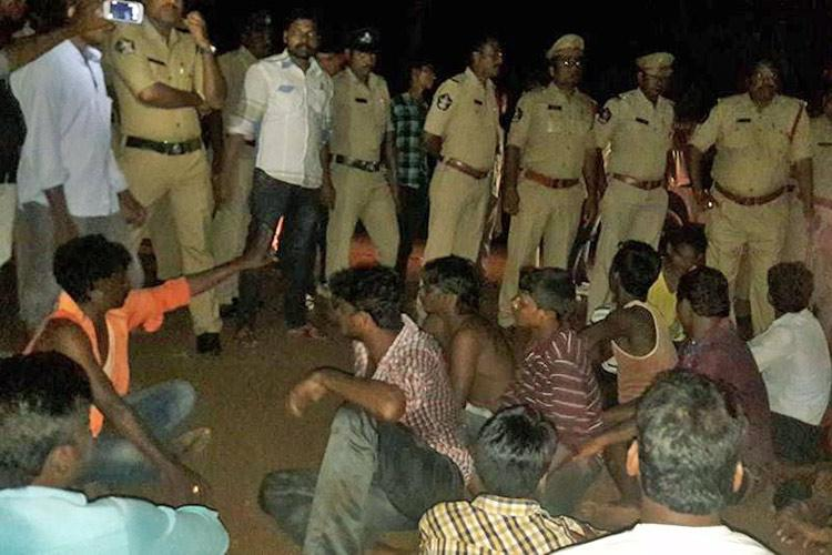 Chiranjeevi fans and Dalits clash over a land dispute in AP village 13 injured
