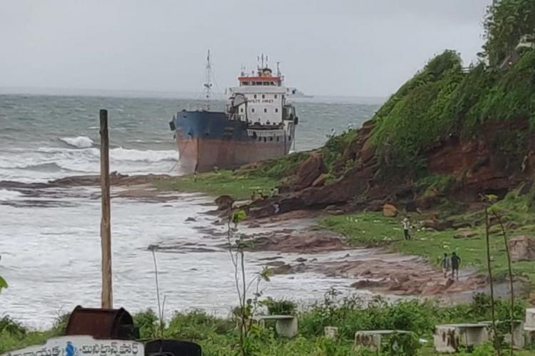 Bangladeshi ship anchored at Vizag