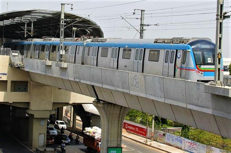 Hyd Metro Rail Happy with speed but not parking space say commuters