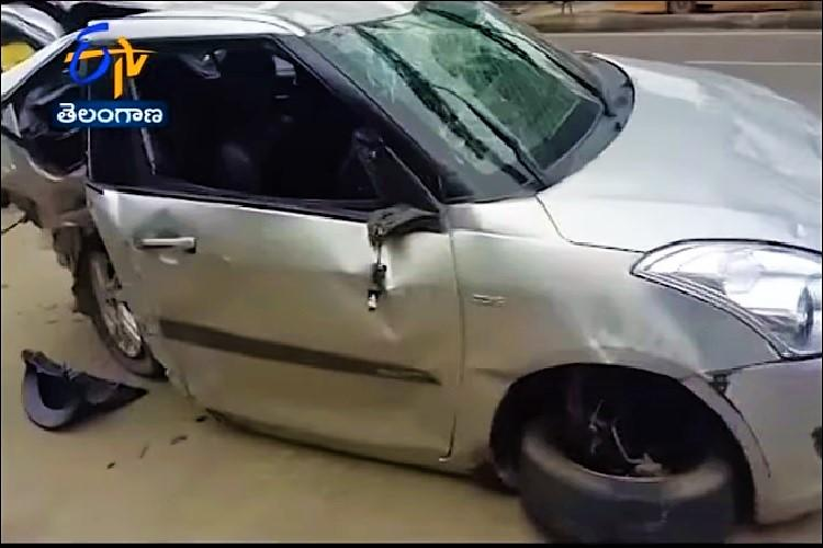 Drunk driving claims two more lives in Hyd speeding car slams into Metro pillar