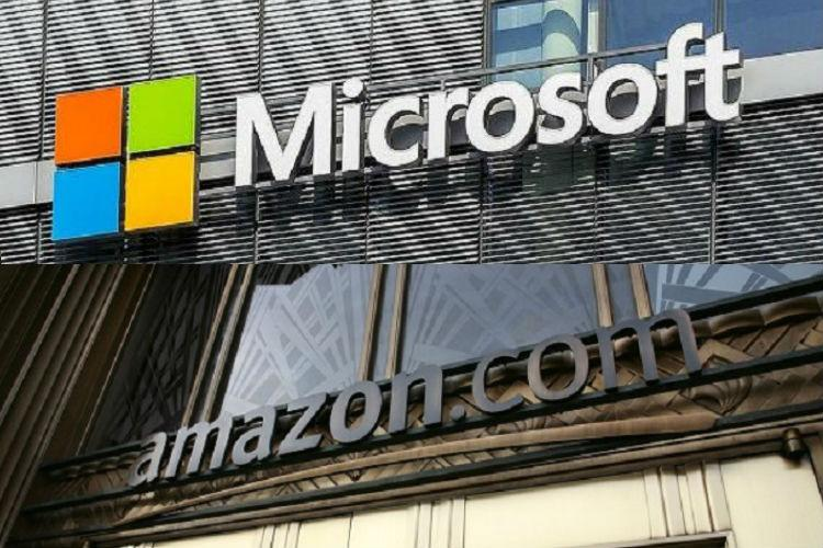 Microsoft Amazon in race for 10bn Pentagon project