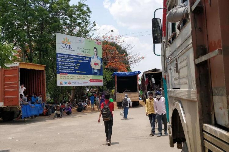 Migrant workers amid the coronavirus lockdown in India