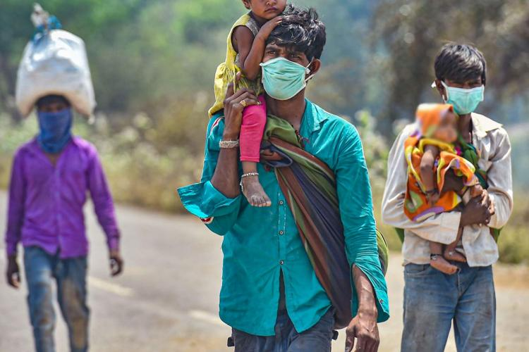 Migrant workers amid the coronavirus lockdown in India