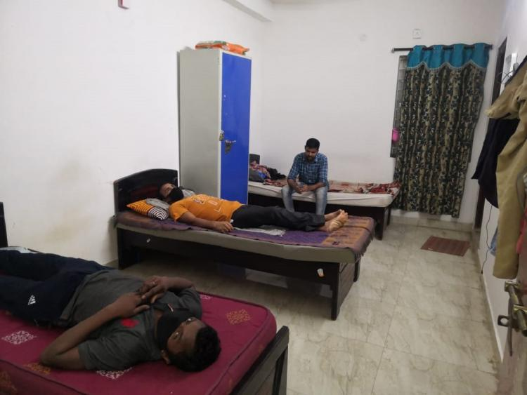 Tikaana shelter for migrant workers in Hyderabad