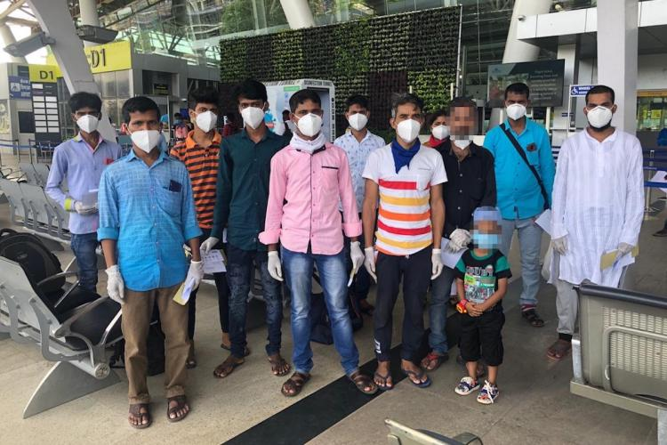 Eight migrant workers stuck in Chennai for a month get help fly home to West Bengal