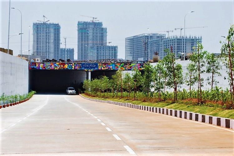In major relief to techies KTR opens underpass at Mindspace Junction to ease traffic