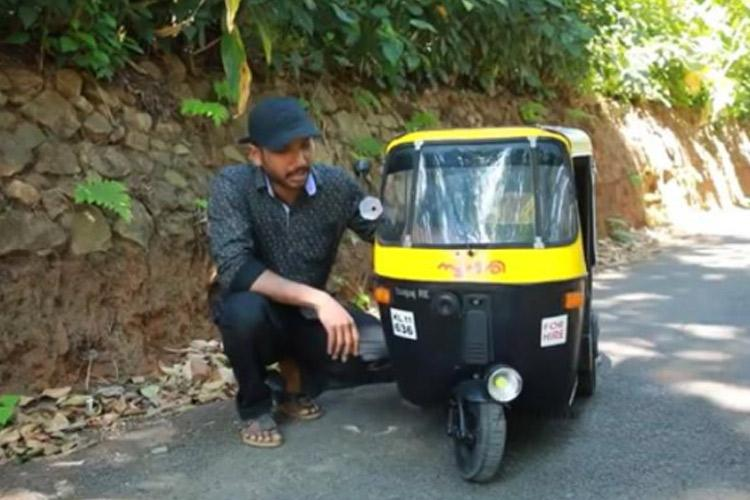 Inspired by Mohanlals Aye Auto Kerala man builds a mini-auto for his kids