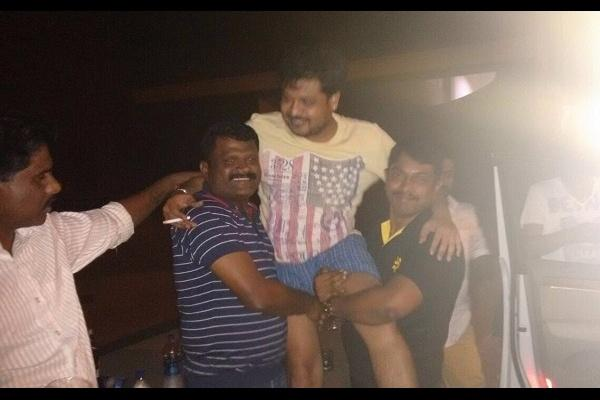 Image of Karnataka ministers son being lifted by cops goes viral on social media