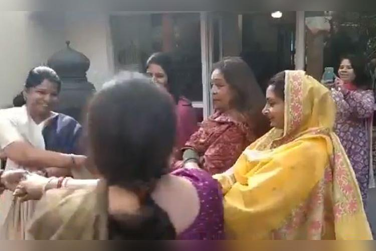 Friends across party lines Watch women MPs whirl together at lunch party