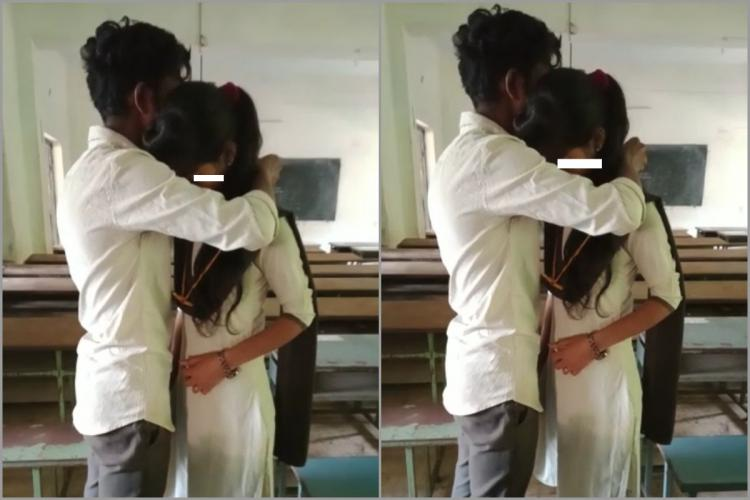 Two minors were seen marrying in class room of a college in Andhra