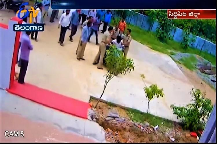 Video Telangana cop in trouble after allegedly assaulting disabled man