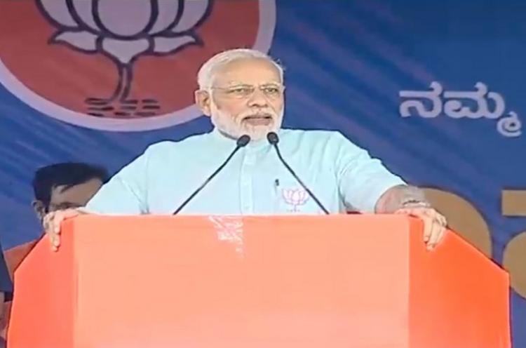Its a BJP storm in Karnataka PM Modis final push ahead of polls