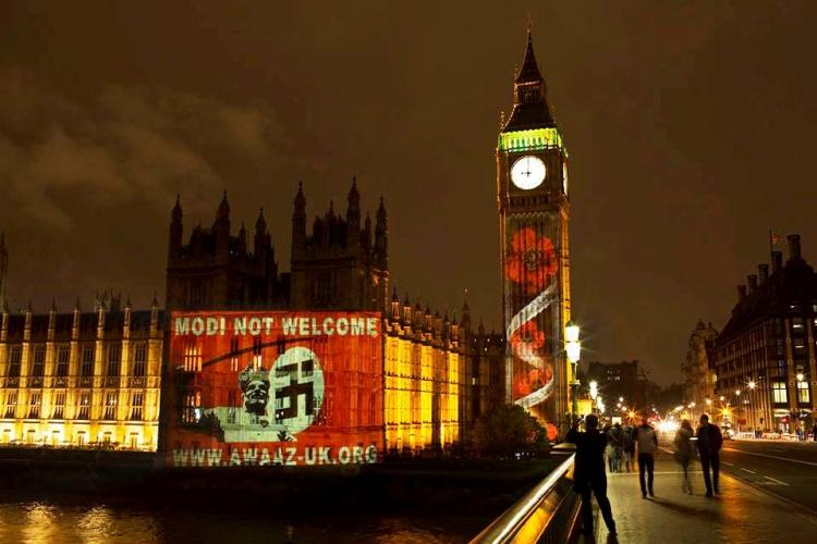 Modi not welcome how an NGO protested against Modis UK visit