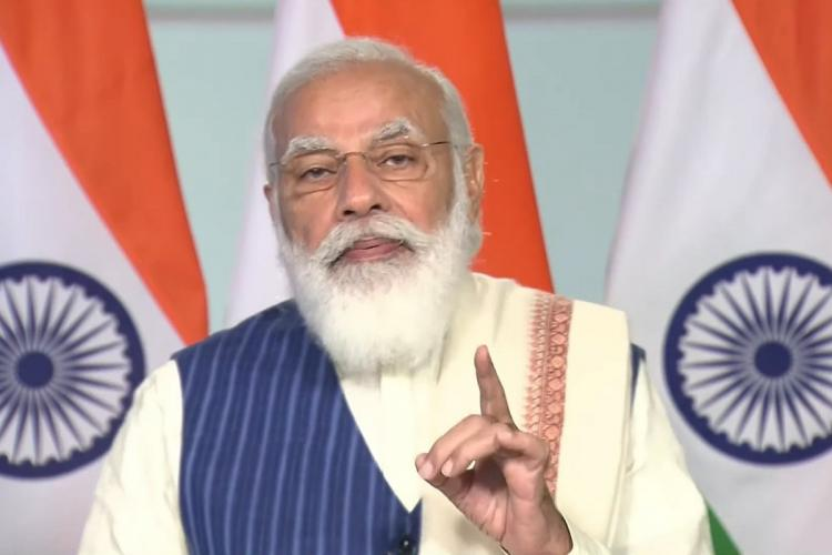 PM Modi speaking at Bengaluru Tech Summit on Thursday