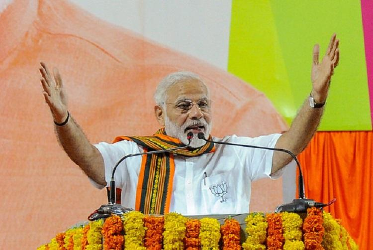 Modi flags BJPs good work lists Congress misdeeds at Hubballi rally