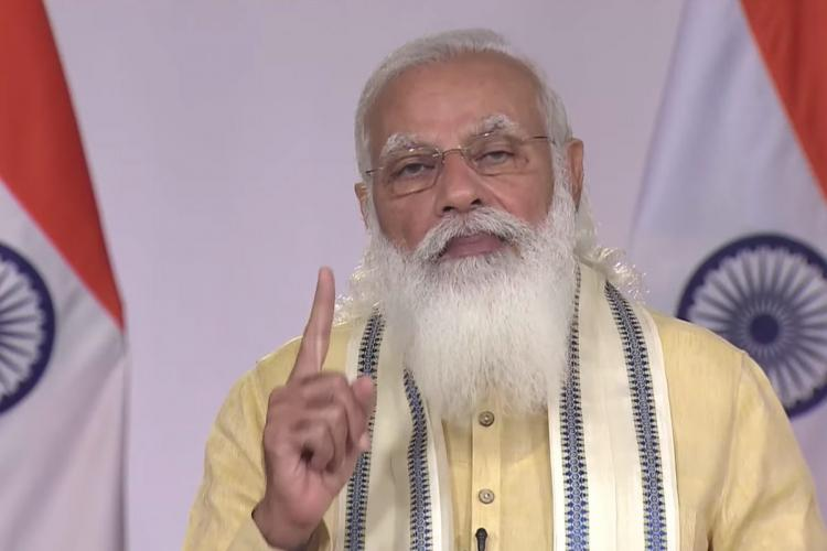 Prime Minister Narendra Modi speaks on June 7 2021