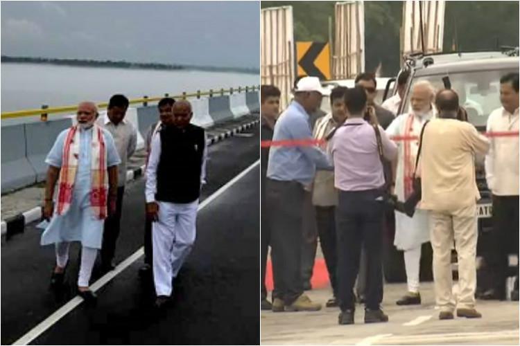 Modi targets Congress for delay in bridge construction names it after Bhupen Hazarika