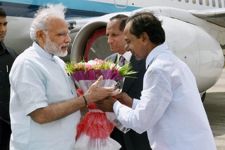 KCR disappointed as Modi offers praise but no funds from the centre