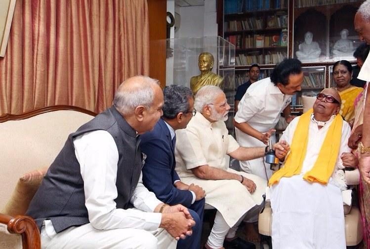 Modis visit to Kalaignar reminds us grace is important in public life writes Tarun Vijay