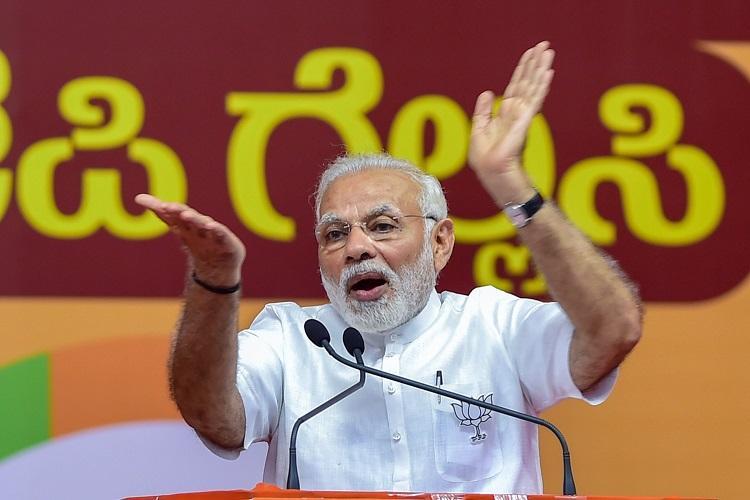 Modi says Congress ignoring Dalits insulting Ambedkar