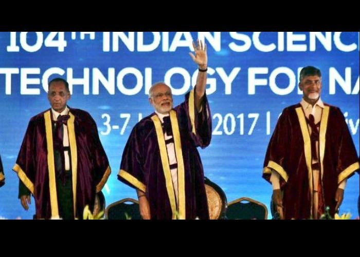 Science must meet rising aspirations of people PM Modi tells Science Congress in Tirupati