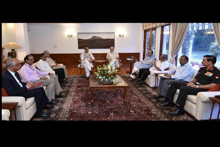 PM Modi chairs high level meeting on Uri attack