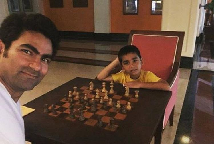 Cricketer Mohammad Kaif posts photo playing chess with son gets told the game is haram