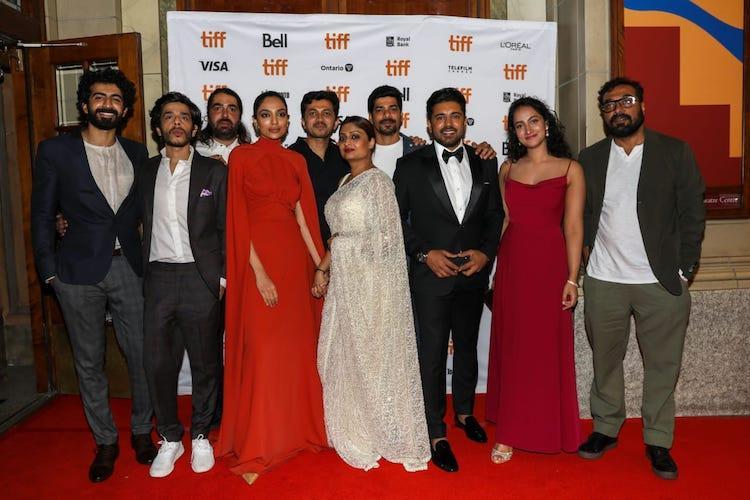 In pics Geetu Mohandas Nivin Sobhita Dhulipala attend TIFF premiere of Moothon