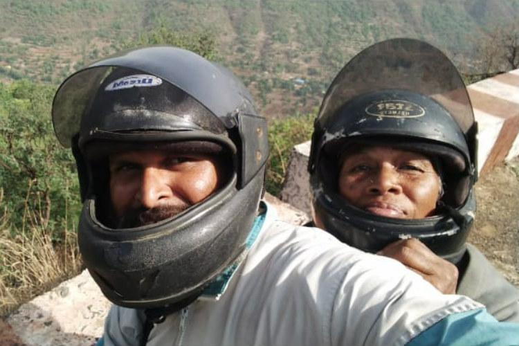 Scooter diaries A Ktaka mother and son are making a temple run across India